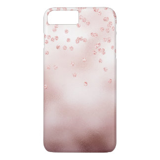 Rosegold glitter confetti iPhone 8 plus/7 plus case