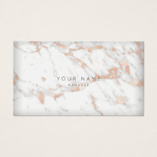 RoseGold White Gray Carrara Marble Vip Appointment Business Card