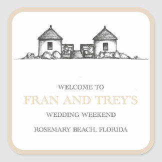 Rosemary Beach wedding stickers