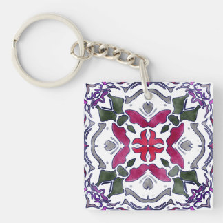 Rosemary Double-Sided Square Acrylic Keychain