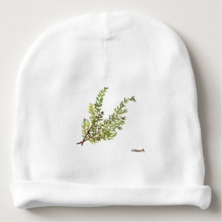 Rosemary herb Rosemary watercolour painting Baby Beanie