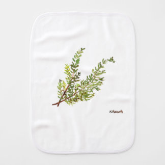 Rosemary herb Rosemary watercolour painting Burp Cloth
