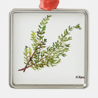 Rosemary herb Rosemary watercolour painting Metal Ornament