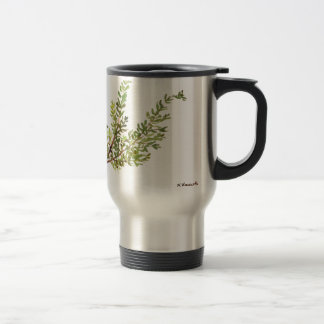 Rosemary herb Rosemary watercolour painting Travel Mug