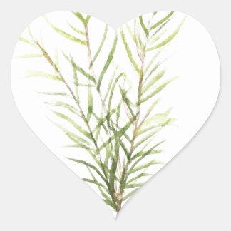 Rosemary herbs heart sticker