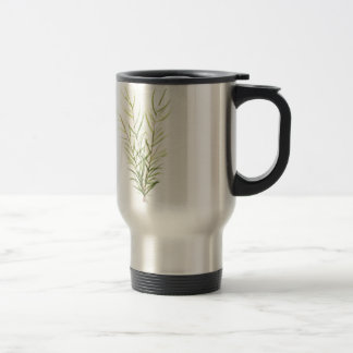 Rosemary herbs travel mug