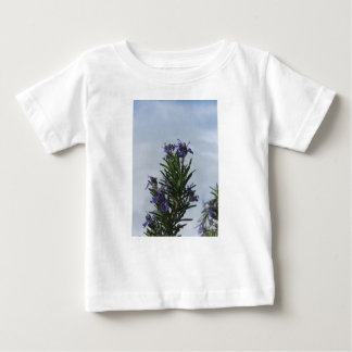 Rosemary plant with flowers against the sky baby T-Shirt