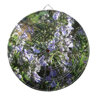 Rosemary plant with flowers in Tuscany, Italy Dart Board