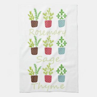 Rosemary, sauge et thym serviettes pour les mains