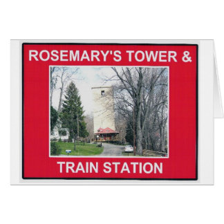 ROSEMARY'S TOWER & TRAIN STATION 3 CARD