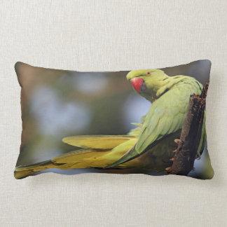 Roseringed Parakeet,Keoladeo National Park, Lumbar Pillow