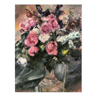 Roses 1 by Lovis Corinth Postcard