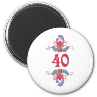 Roses 40 2 inch round magnet