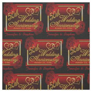 Roses 50th Golden Wedding Anniversary Fabric