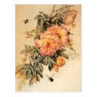 'Roses and Bumblebees' by Paul de Longpré Postcard