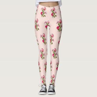 roses and butterflies leggings