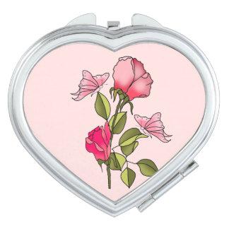 roses and butterflies vanity mirror