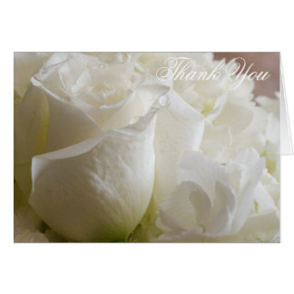 Roses and dew drops thank you (blank) card
