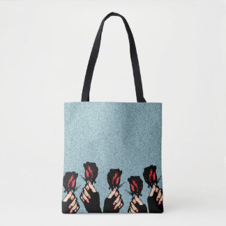 Roses and Hands Tote Bag
