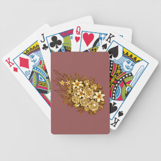 Roses and Hibiscus Bicycle Playing Cards