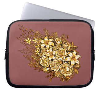 Roses and Hibiscus Laptop Sleeve