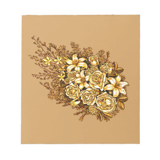 Roses and Hibiscus Notepad