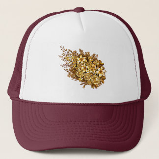 Roses and Hibiscus Trucker Hat