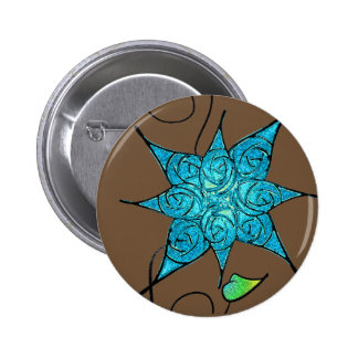 Roses and Ice 2 Inch Round Button