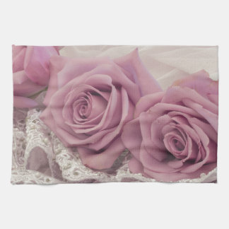 Roses And Lace Still Life Kitchen Towel