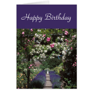 Roses-and-lavender card
