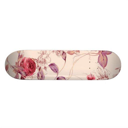 Roses and Leaves Skate Decks