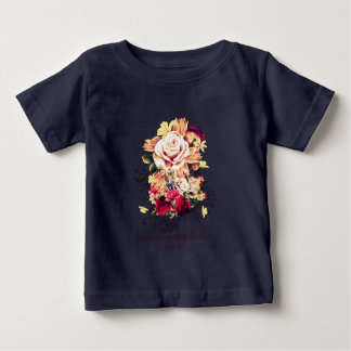 Roses and lilac. Love is wanting to be loved Baby T-Shirt