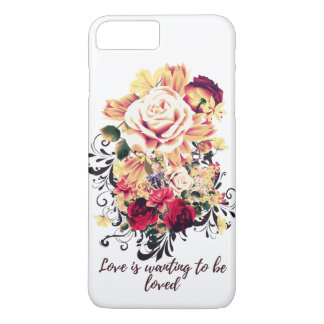 Roses and lilac. Love is wanting to be loved Case-Mate iPhone Case