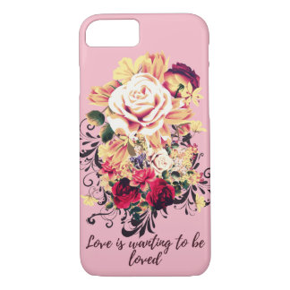 Roses and lilac. Love is wanting to be loved iPhone 8/7 Case