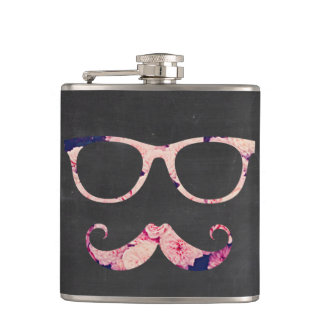 Roses and mustache flasks