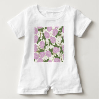 roses and peeling paint baby romper