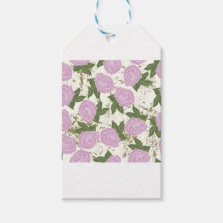 roses and peeling paint pack of gift tags