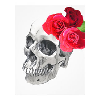Roses and Skull Customized Letterhead