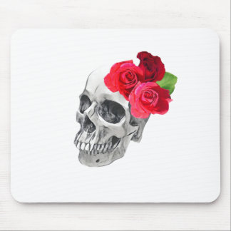 Roses and Skull Mouse Pad