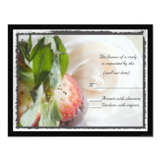 Roses and strawberries rsvp card