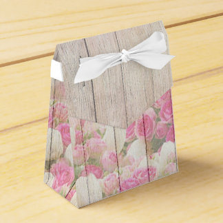 Roses and Tulips - wedding favour box