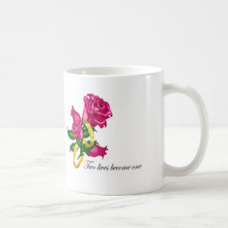 Roses and Wedding Bands Classic White Coffee Mug