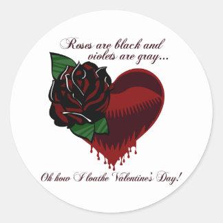 Roses Are Black Poem Round Sticker