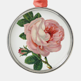 Roses are Pink Metal Ornament