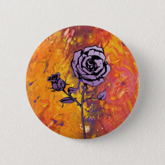 Roses are Purple 2 Inch Round Button