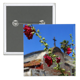 Roses at a missionary 2 inch square button