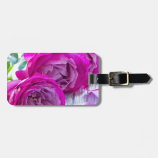 roses background luggage tag