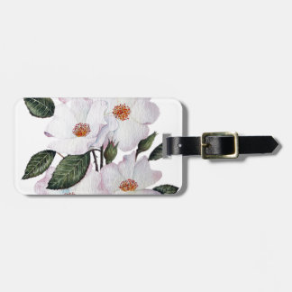Roses 'Ballerina' Floral Art Luggage Tag