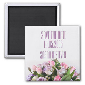 Roses Beauty Bouquet Save the date Refrigerator Magnets