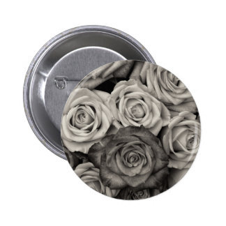ROSES Black and White Photo Button